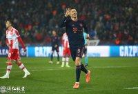 欧冠第5轮 红星0:6拜仁 莱万14分钟大四喜创纪录